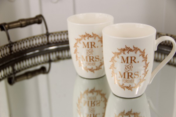 Kaffeebecher MR. & MRS. FOREVER im SET